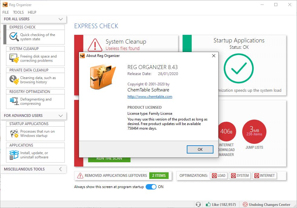 Reg Organizer 8.43 License Key + Crack Lifetime {2020} Free Download