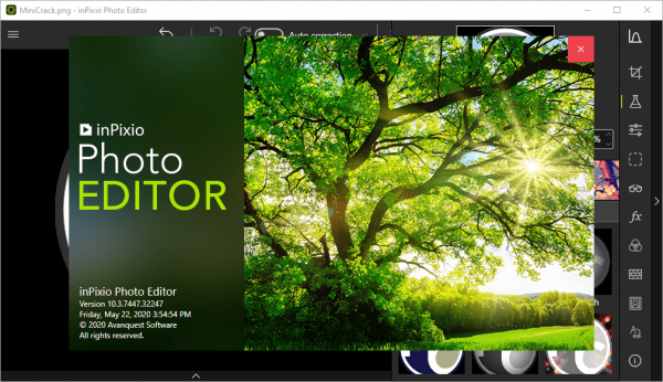 InPixio Photo Editor 10.3.7447.32247 Serial Key & Patch {2020} Free Download