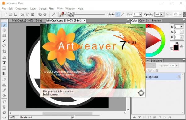 Artweaver Plus 7.0.6.15481 Crack & Portable {2020} Free Download