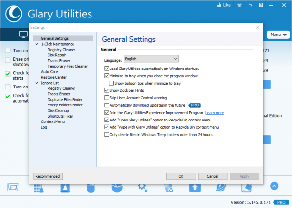 Glary Utilities Pro 5.145.0.171 Serial Key {2020} Free Download