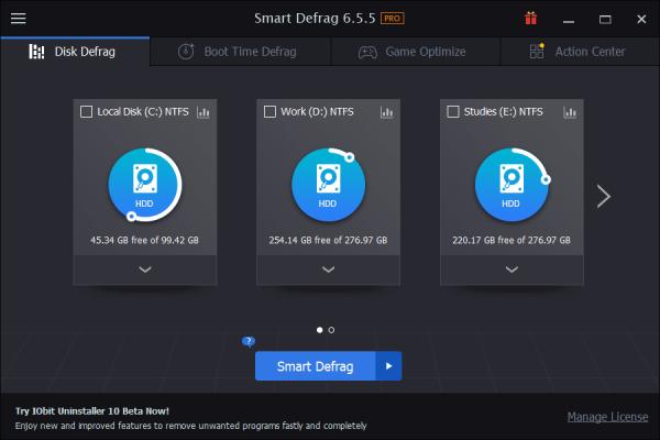 IObit Smart Defrag Pro 6.5.5.119 Crack {2020} Free Download