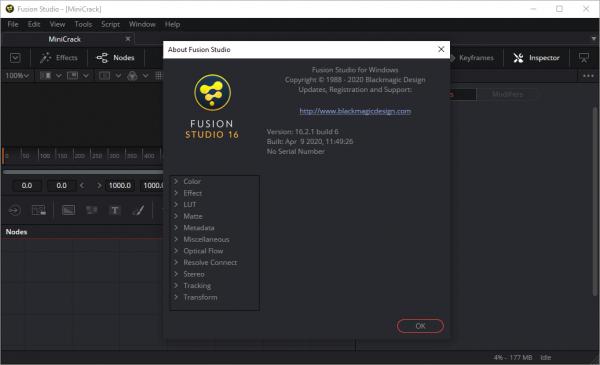 Blackmagic Design Fusion Studio 16.2.1 Build 6 Crack {2020} Free Download