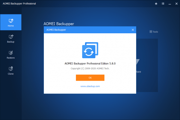 AOMEI Backupper Professional 5.8.0 Crack & License Key {2020} Free Download