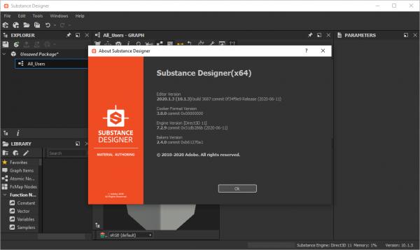 Allegorithmic Substance Designer 2020 v10.1.3.3687 Crack {2020} Free Download
