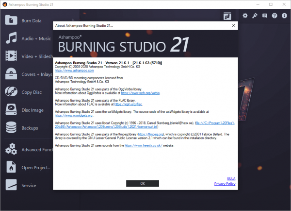 Ashampoo Burning Studio 21.6.1.63 Crack & License Key Free Download