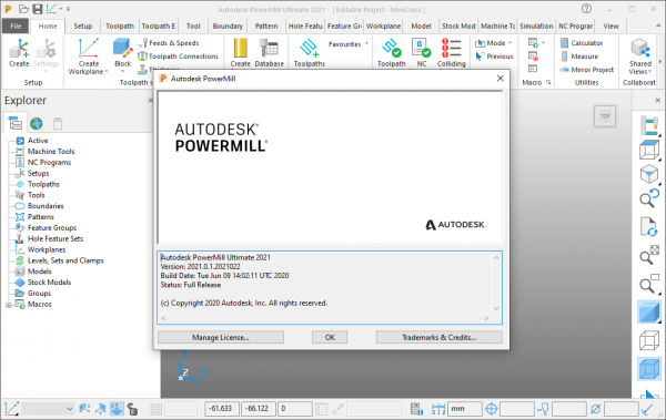Autodesk PowerMill Ultimate 2021.0.1 Crack + License Key Free Download