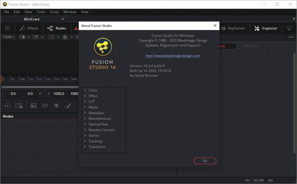 Blackmagic Design Fusion Studio 16.2.4 Build 9 Crack {2020} Free Download
