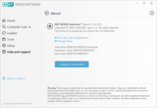 ESET NOD32 Antivirus 13.2.15.0 License Key {Updated} Free Download