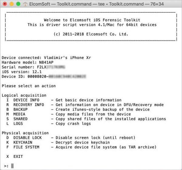 ElcomSoft iOS Forensic Toolkit 6.20 Crack & Serial Key {2020} Free Download