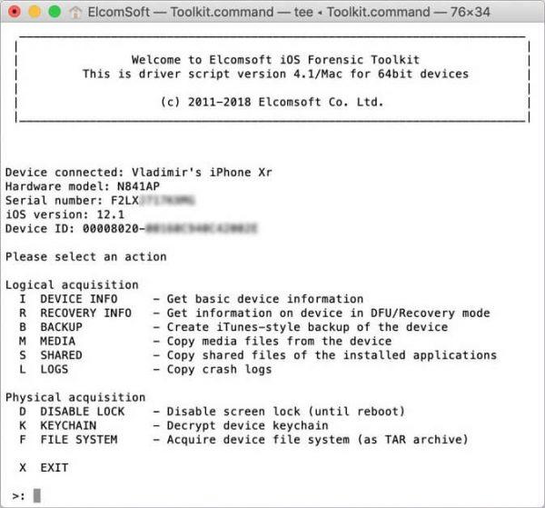ElcomSoft iOS Forensic Toolkit Keygen & Activator {Full} Free Download