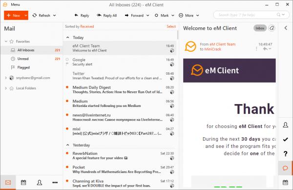 eM Client Pro 8.0.2951 Crack {2020} Free Download