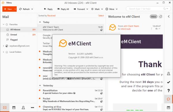 eM Client Pro 8.0.2951 Serial Key & Patch {2020} Free Download