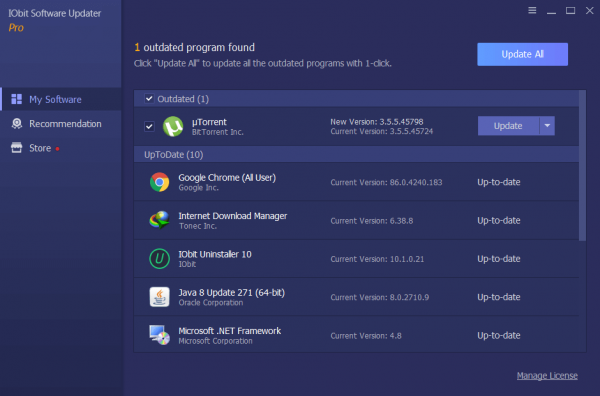 IObit Software Updater Pro Full Crack {Tested} Free Download