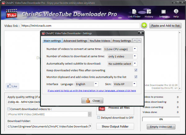 ChrisPC VideoTube Downloader Pro Crack {Latest} Free Download